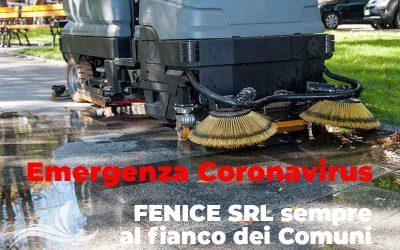 Emergenza Coronavirus, FENICE SRL sempre al fianco dei Comuni